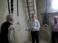 The 'new' ringing chamber at Clopton.