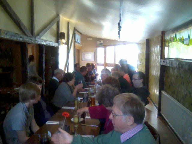 Lunch at The Five Bells in Colne Engaine.