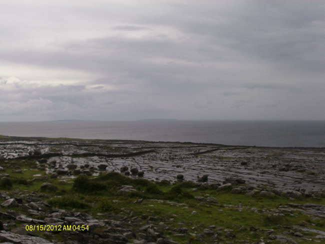 The very wet Atlantic coast looking over to The Aran Islands. Try looking at this and not humming the theme to Father Ted.