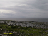 The very wet Atlantic coast looking over to The Aran Islands.