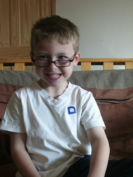 Mason's New Glasses.