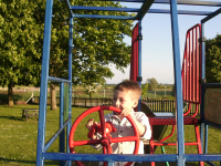 Mason enjoying Kingston Fields.