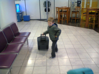 Mason at Edinburgh Airport.