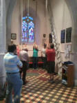 Ringing at Offton for the South-East District Practice.