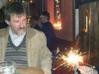 Brian Whiting eyes a sparkler up with some suspicion...