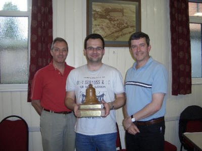 Receiving the Trophy