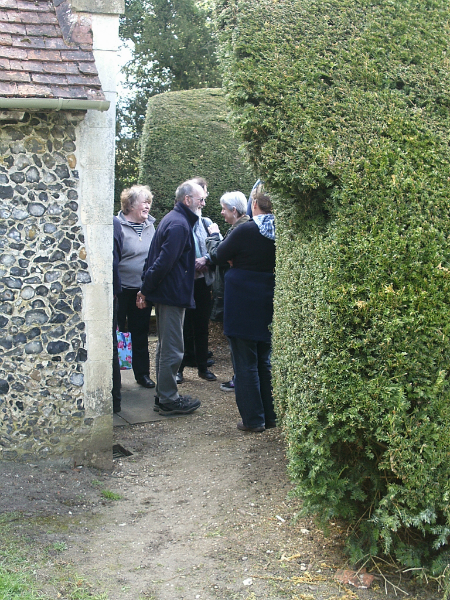 Some of the Pettistree ringers awaiting their turn.
