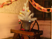 Christmas Decorations in Woodbridge Ringing Chamber.